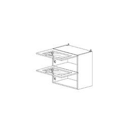 5.83 Шкаф наст. горизонтальный со стеклом МДФ (500 x 652 x 300) МДФ Черный глянец фреза
