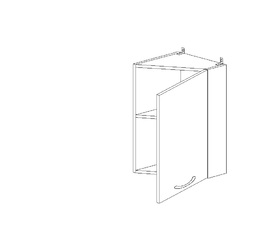 5.93 Шкаф наст. завершающий (300 x 652 x 300) МДФ Черный глянец фреза
