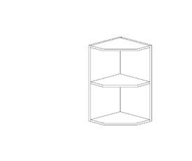 Амели 5.94  Завершающий элемент верхний (280 x 652 x 280) ЛДСП Ясень Шимо