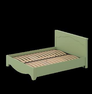 Кровать «ГАЛА» двуспальная 1600 (цвет - Оливковое деревo, Белый бриллиант)