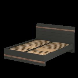 Кровать «АСТИ» двуспальная 1600 (цвет - Антрацит, Дуб Эрле)
