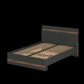 Кровать «АСТИ» двуспальная 1400 (цвет - Антрацит, Дуб Эрле)