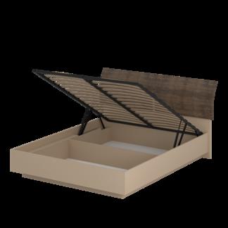 Кровать «АСТИ» двуспальная с подъемным механизмом 1600 (цвет - Макиато, Старое дерево)