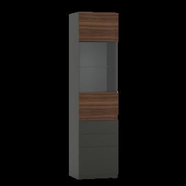 Шкаф со стеклом и ящиками