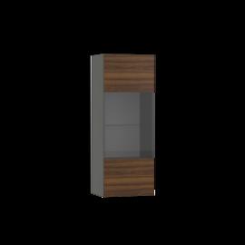 Шкаф навесной со стеклом