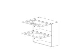 """7.29 Шкаф высокий 900 горизонтальный 2 дв. ст. (900х960х316) Э Роял Вуд голубой """"Кантри"""""""
