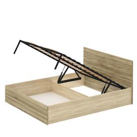 Кровать «ЛАЙТ» двуспальная с подъемным механизмом  1600 (цвет - Дуб Сонома светлый)