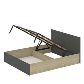 """Кровать 1600 с подъемным механизмом МДФ""""Лайт"""" Серый глянец"""
