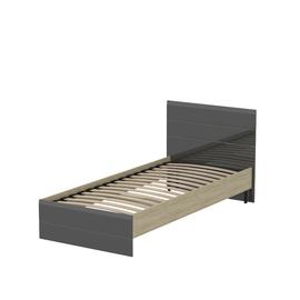 Кровать «ЛАЙТ» односпальная 900 (цвет - Серый глянец)