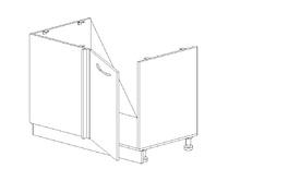 Бьянка 06.01 ТМ угловая (с цоколем) левая Мрамор