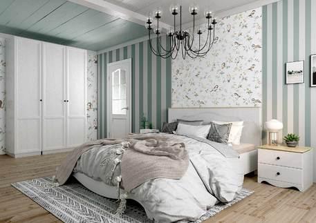 Спальный гарнитур «Гала» (цвет - роял вуд белый)