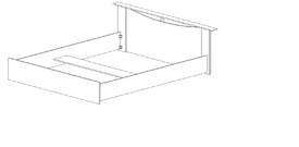 """Кровать двуспальная 1600 """"Бэлла"""""""