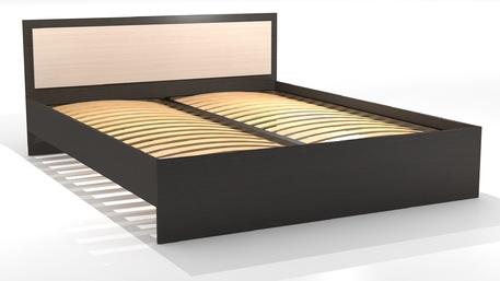 """Кровать двуспальная 1600 """"Оскар"""" Ясень шимо светлый, шимо темный"""