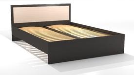 """Кровать двуспальная 1400 """"Оскар"""" Ясень шимо светлый, шимо темный"""