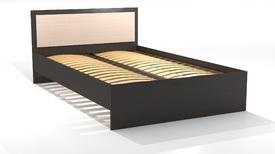 """Кровать полутороспальная 1200 """"Оскар"""" Ясень шимо светлый, шимо темный"""
