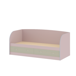 """Кровать с ящиками и спинкой """"Джуниор"""" Ирис"""