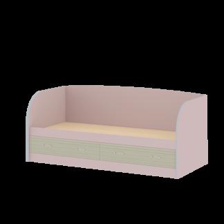 Кровать детская «ДЖУНИОР» с ящиками и спинкой (цвет - Ирис /Модерн)