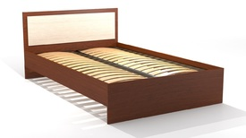 Кровать «ОСКАР» полутораспальная 1200 (цвет - Млечный дуб/ Орех)