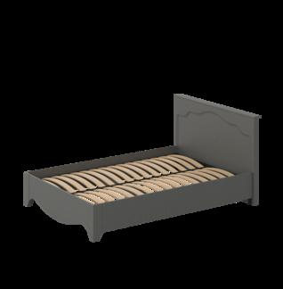 Кровать «ГАЛА» двуспальная 1400 (цвет - Дуб фактурный Антрацит, Антрацит)