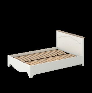 Кровать «ГАЛА» двуспальная 1400 (цвет - Роял Вуд Белый, Дуб Грэндсан)
