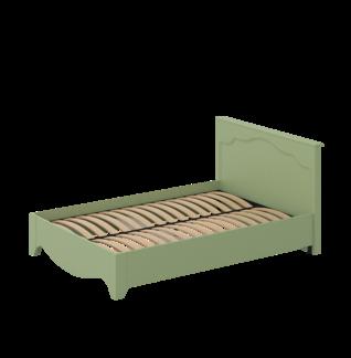 Кровать «ГАЛА» двуспальная 1400 (цвет - Оливковое деревo, Белый бриллиант)