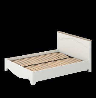 Кровать «ГАЛА» двуспальная 1600 (цвет - Роял Вуд Белый, Дуб Грэндсан)