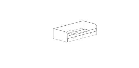 """Кровать """"Омега"""" Млечный дуб, венге"""