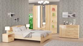 Спальный гарнитур «ОСКАР» (цвет - Капучино, млечный дуб)