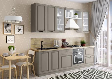 Кухня «ПАЛЕРМО» (цвет фасада - базальт)