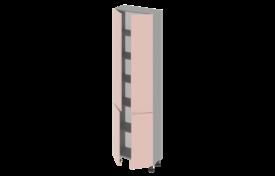 Пенал высокий 600 без ниши двухстворчатый