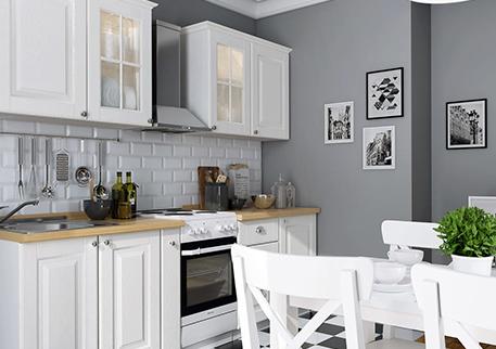 Кухня «ПРОВАНС» (цвет - дуб фактурный белый)