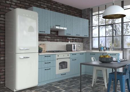 Кухня «ГРАНЖ» (цвет - роял вуд голубой)