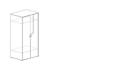 """Шкаф для одежды """"Омега"""" Млечный дуб, венге"""