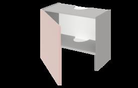 Шкаф низкий над вытяжкой 600 ЕВРОДОМ