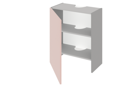 Шкаф средний над вытяжкой 600 ЕВРОДОМ