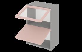 Шкаф средний 600 горизонтальный 1 дв. ст. 1дв. гл.