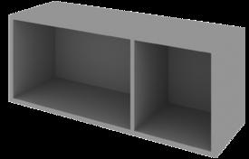 Шкаф 800 низкий откр. с 2 нишами