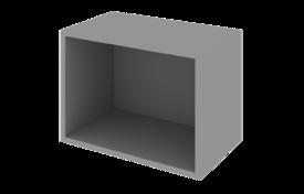 Шкаф 600 низкий открытый