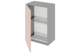 Шкаф средний 400 под сушилку с алюминиевой рамкой одностворчатый