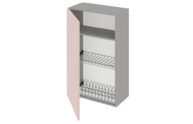 Шкаф высокий 500 под сушилку с алюминиевой рамкой одностворчатый