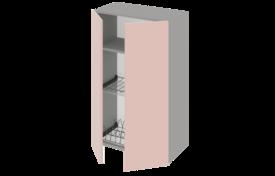 Шкаф высокий 500 двухстворчатый под сушилку с алюминиевой рамкой