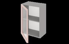 Шкаф средний 500 со стеклом одностворчатый