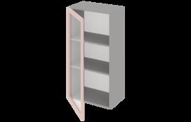 Шкаф высокий 500 со стеклом одностворчатый