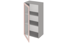 Шкаф высокий 600 со стеклом одностворчатый