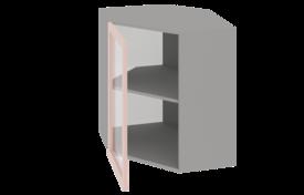 Шкаф средний 600х600 угловой со стеклом