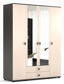 """Шкаф для одежды и белья с зеркалом """"Оскар"""" Ясень шимо светлый, шимо темный"""