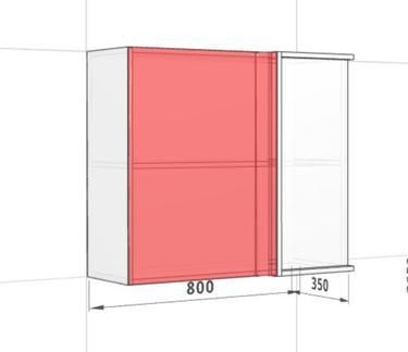 Шкаф угловой 800 средний переходн.