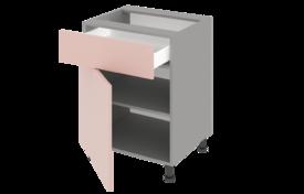 Стол рабочий 500 с 1 ящиком одностворчатый