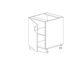 1.25 Стол рабочий (400 x 816 x 500) МДФ Черный глянец фреза