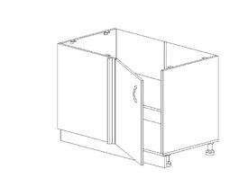 Амели 1.41 Стол рабочий угловой (столешница 1000*600 мм) (880 x 816 x 500) Правый ЛДСП Ясень Шимо